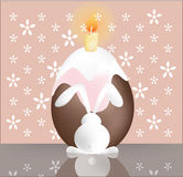 Easter bunny with cake. Stock Images