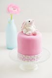 Easter bunny cake. Easter cake with bunny made of fondant royalty free stock images