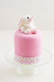 Easter bunny cake. Easter cake with bunny made of fondant stock image
