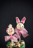 Easter bunny cake pops Royalty Free Stock Photos