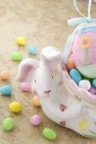 Easter Bunny with Candy Eggs Royalty Free Stock Images