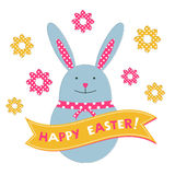 Easter bunny card Royalty Free Stock Image