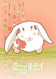 Easter Bunny for card royalty free illustration