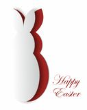 Easter bunny card Royalty Free Stock Images