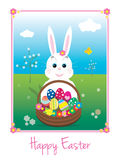 Easter Bunny card Stock Image