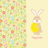 Easter bunny card with egg Royalty Free Stock Images