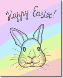 Easter bunny card. Royalty Free Stock Images