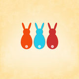 Easter Bunny card template design. + EPS8. Vector file Royalty Free Illustration