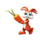 Easter bunny with carrot Stock Photos