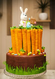 Easter Bunny carrot cake Stock Photo