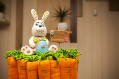 Easter Bunny carrot cake Royalty Free Stock Images