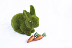 Easter Bunny with Carrots Stock Images
