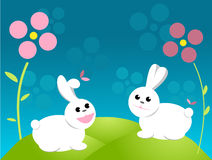 Easter bunny cartoon Royalty Free Stock Photography
