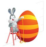 Easter bunny cartoon Royalty Free Stock Photo