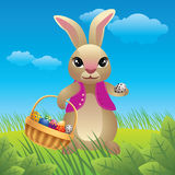 Easter bunny cartoon Stock Photos