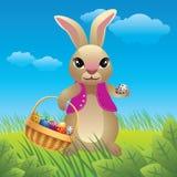 Easter bunny cartoon royalty free illustration