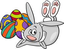 Easter bunny cartoon character Stock Image