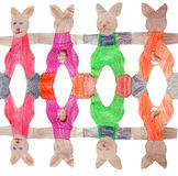 Easter bunny chain Stock Image