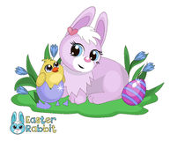 Easter Bunny and chick. Stock Photos