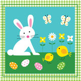 Easter Bunny and Chick Stock Photo