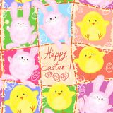 Easter bunny/chick pattern Royalty Free Stock Photography