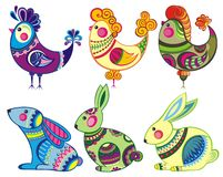 Easter  bunny and chickens Stock Image