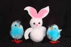 Easter bunny and chicks Royalty Free Stock Photos