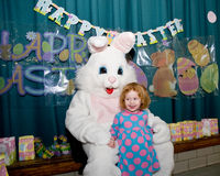 Easter Bunny with Child Royalty Free Stock Images