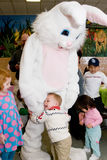 Easter Bunny with Child Stock Image