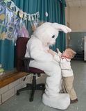 Easter Bunny with Child Stock Photos