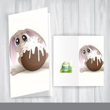 Easter Bunny With Chocolate Egg. Stock Photo