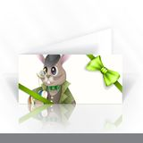 Easter Bunny With Chocolate Egg. Royalty Free Stock Photos
