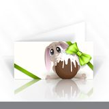 Easter Bunny With Chocolate Egg. Stock Image