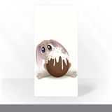 Easter Bunny With Chocolate Egg. Royalty Free Stock Photography