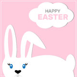 Easter bunny on a colored background Royalty Free Stock Images