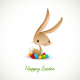 Easter Bunny with Colored Eggs. | EPS 10 Vector Graphic | Layers Organized and Named Accordingly Stock Photo