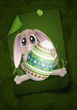 Easter Bunny With Colorful Egg. Stock Image