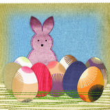 Easter bunny and colorful eggs Royalty Free Stock Images