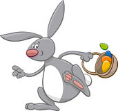 Easter bunny comic character Royalty Free Stock Photography