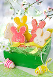 Easter Bunny Cookies Royalty Free Stock Photos