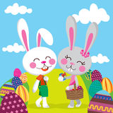 Easter Bunny Couple Stock Photography