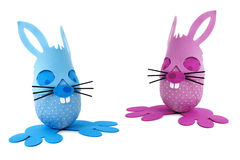 Easter bunny couple Royalty Free Stock Image