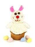 Easter bunny cupcake over white Stock Image