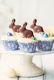 Easter bunny cupcakes Royalty Free Stock Photos