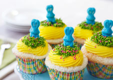 Easter bunny cupcakes Royalty Free Stock Images