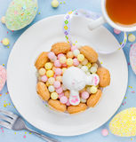 Easter bunny cute dessert Royalty Free Stock Photography