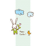Easter bunny, cute doodle design element for greeting card Royalty Free Stock Photo