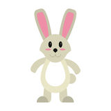 Easter bunny cute standing royalty free illustration