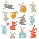 Easter bunny cute vector style Royalty Free Stock Photos