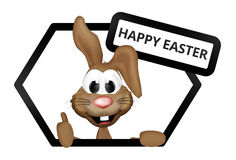 Easter bunny 3d Royalty Free Stock Photos